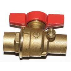 """3/4"""" S-1100 """"No Lead"""" Ball Valve with Bleed Port and T-Handle"""